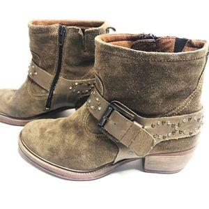 Josef Seibel Suede Leather Studded Booties